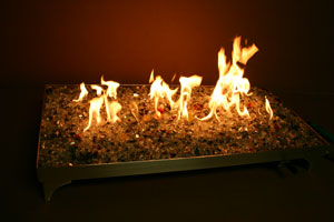 aluminum pan for contemporary fireplace
